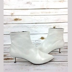 Rebecca Minkoff White Siya Boots Sz 6.5